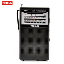 Original TECSUN R-218 mini 2 Band Broadcasting Receiver Television sound Pointer 76-108MHz Y4155 FM / AM Radio Drop Shipping New(China)