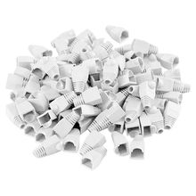 200 Pcs Strain Relief Boots Soft Plastic Network Cover Modular Plug Cover for Cat5 Cat5e Cat6 RJ45 (White)(China)