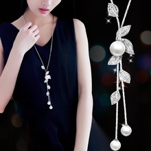 BYSPT Imitation Pearl Necklaces 2017 Retro Hot Popular Vintage Leaf Pearl Collar Chunky Statement Necklace Jewelry For Women