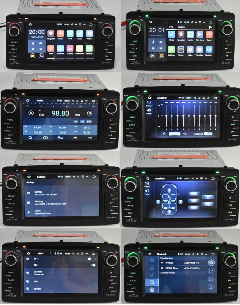 toyota e120 corolla e140 e121 corolla altis android 7.12 android 8.0 car dvd player (7)