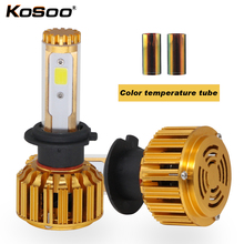 KOSOO Car LED Headlights 60W 8000lm H7 Automobile Bulb Headlamp DIY Change color temperature 6000K 3000K 8000K Fog Light(China)