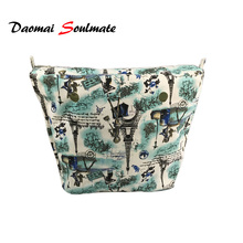 22 colors Classic Size Canvas Inner lining Interior Zipper Pocket organizera suitable forobag o bag Silicone handbag(China)