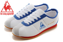 Le Coq Sportif Women's Running Shoes,High Quality Canvas Upper Le Coq Sportif Athletic Shoes Sneakers White/Blue/Golden 2