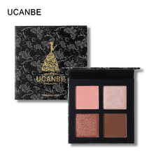 UCANBE Brand Mineral 4 Colors Eyeshadow Powder Makeup Palette Matte Shimmer Pigment Eye Shadow Highlighter Powder Dual Use(China)