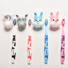 kid Toothbrush For little Boy Girl Tooth Brush Toddler Teethbrush Lovely Cartoon Cows Rabbit toothbrush baby silicone toothbrush
