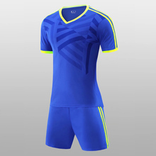 Men and Kids Custom Team Soccer Jerseys Football Outfit Kids 2017 Training Football Jerseys Soccer Team Uniforms Tracksuit(China)