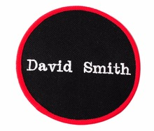 "Personalized Custom Embroidery 3"" Round Patch Biker Embroidered Funny  Patches Badges with Any message Gifts AE0828"