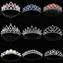 2017 New Girls tiara crown Wedding Jewelry Bridal Flower princess crystal rhinestone Tiara Headband Accessories Prom Party Gift