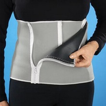 New Adjustable Slimming Waist Belt Burn Belly Fitness Body Fat Cellulite Burner Shaper For Men With 5 Zippers Wrap -27