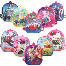New Children Captain America Iron Man Minnie Mickey Mouse anna elsa Dora Cars 3 superman Plush Baby Backpack School Bag toy(China)