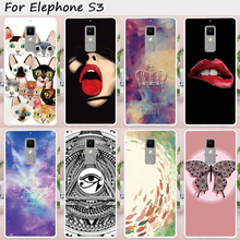 TAOYUNXI Mobile Phone Cases for Elephone S3 5.2 inch Cover Soft TPU Sexy Girl Lips DIY Painted Bag Skin for Elephone S3 Case(China)