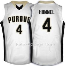 Purdue Boilermakers College #4 Robbie Hummel Throwback Basketball Jersey, Authentic Stitched Logos Robbie Hummel Jersey(China)