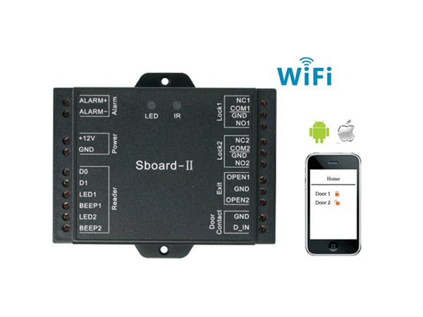 Sboard-II Wifi Free Shipping Door Access Control Board Dual Relay Office Mini Controller Wiegand26 For Entry Security System<br>