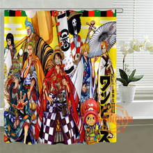 Custom Anime Shower Curtain One Piece Dragon Ball Z Bleach Fairy Tail Naruto Characters Together Idea Shower Curtain(China)