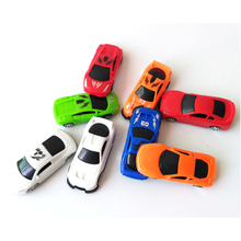 Hot 6Pcs/set 2017 Rushed Brinquedos Cars Plastic Car Model Cars Cute Q Version Of Taxi Mini Pocket Toy Children Wholesale Gifts