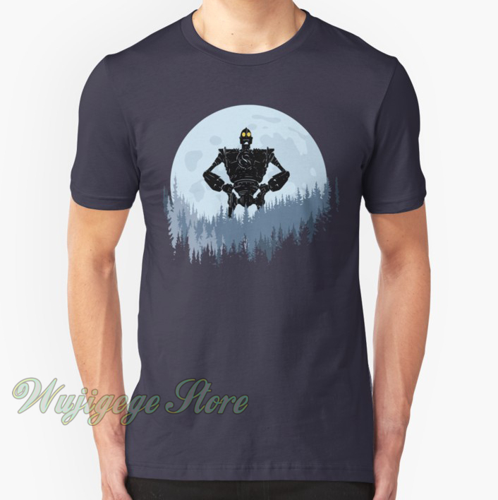 Iron Giant Movie GIANT AND HOGARTH Licensed Adult Long Sleeve T-Shirt S-3XL