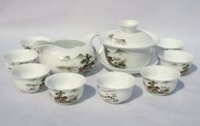 10pcs smart China Tea Set, Pottery Teaset,Autumn,TM19, Free Shipping(China)