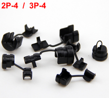 120pcs Black 2P-4 3P-4 Nylong PA Computer Case Flat Power Cable Sleeve Wire SPT-1 Cabinet Hole Protector Bushing Grommet(China)