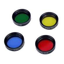 4pcs 1.25'' Filter Telescope Eyepiece Colorful for Astronomical Telescope Monocular Astrophotography Filter W2153A