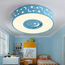 ed ceiling lamp children lighting bedroom modern simple creative circular stars moon eye warm boys and girls CL ET73(China)