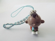 Lovely Boy Pendant Charm with Strap for Mobile Phone  - 1CM x 3CM