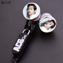 MLLSE Fashion Song Joong Ki Zipper Earphone Wired Stereo Earbuds Earphones Music Game Headset For Iphone Samsung Xiaomi Phone PC