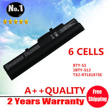 Wholesale New 6 cells Laptop battery for MSI Wind U90 U90X U100  U230 LG  X110 SERIES MSI BTY-S11 MSI BTY-S12 Free shipping