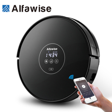 Alfawise X5 Robotic Vacuum Cleaner 1000pa Strong Suction Alexa Control Wet & Dry Moping Auto Self Charging Vacuum Cleaner Tools(China)