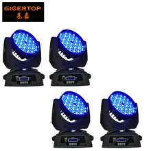 Freeshipping 4Pcs/Lot Led Moving Head Light 108Pcs*3W RGBW Color 12DMX Channels American DJ Led Moving Head Wash Light RGBW 4in1