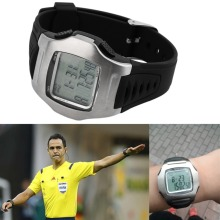 Wholesale Practical Soccer Referee Timer Sports Match Game Wrist Watch Football Chronograph free shipping