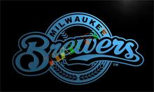 LD137- Milwaukee Brewers LED Neon Light Sign   home decor  crafts