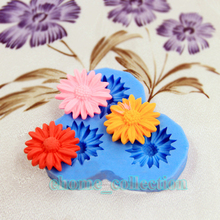 New Arrival Daisy Flower Cake Shaped Gum Paste Soap Chocolate Decoration DIY Tool Silicone Cake Mold Baking Tools Bakeware Maker