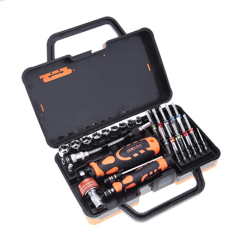 JM-6123 31 in 1 Auto Tool Car Repair Hand Ratchet Multifunction Screwdriver Disassemble Digital Repairing Tools<br>