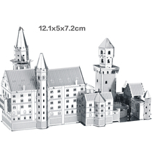 3D puzzles for adults 2015 New Swan Stone Castle Nano metal  DIY  3D Puzzle  Building brinquedos para as crian educational toys