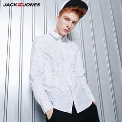 Jack&Jones Бренд 2018 Новинка Мужская Рубашка Длинная Блузка с Хлопка 100% Кардиган Мужский Удобный Ткань Стильный Фасон Мужские одежды 216305523