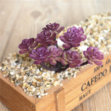 Mini Artificial Succulents Red Home Garden Artificial Cactus Plants Realistic Faux Succulent Stems Arrangements In Bulk Cheap