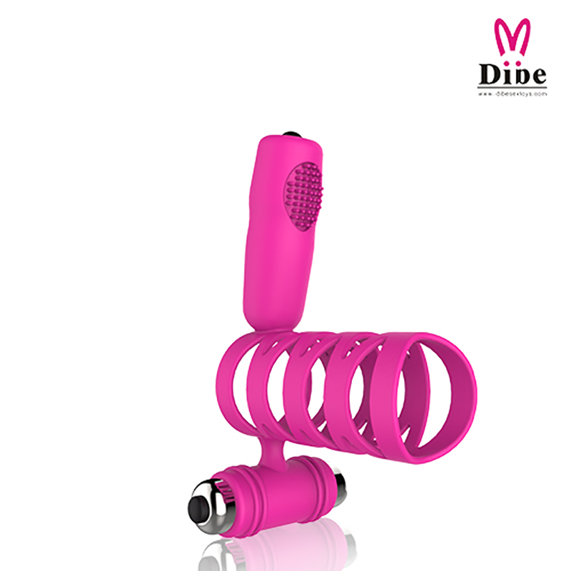 DIBE Sex Product Silicone Penis Rings Cock Ring Waterproof Vibrating Sex Toys For Men Double Vibration Ejaculation Delay ELDJ295 1