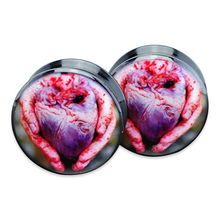 1 pair =2 pieces heart plug gauges black acrylic screw flesh tunnel ear plug ear expander body jewelry ASP2-946