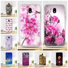 Flower Painted Case For Coque Samsung J5 2017 Case EU Version Case Cover Soft Tpu Fundas For Samsung Galaxy J5 Pro J530F Bags(China)