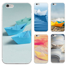 Fashion Paper Boat Design Protective Phone Case for iPhone 6S 7 Plus(China)