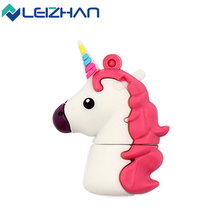 LEIZHAN Unicorn USB Flash Drive 16 gb USB 2.0 Animal Pen Drive 32GB For Tablet/PC Computer Flash Memory 8GB Pendrive 64GB U Disk(China)