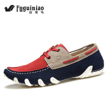 FUGUINIAO Mens Espadrilles Summer Fashion Flat Men Shoes Male Casual Shoes Slip On Lazy Men Flats Shoes Cheap Moccasins Loafers(China)