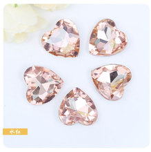 Water red heart-shaped Pointed bottom glass crystal rhinestones apply to Watch decoration and DIY Wedding dress jewelry 20pcs