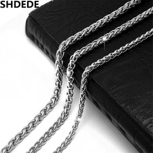 SHDEDE Silver Color Stainless Steel Snake Chain Necklace For Men High Quality Retro Style Jewelry Accessories *CE402(China)
