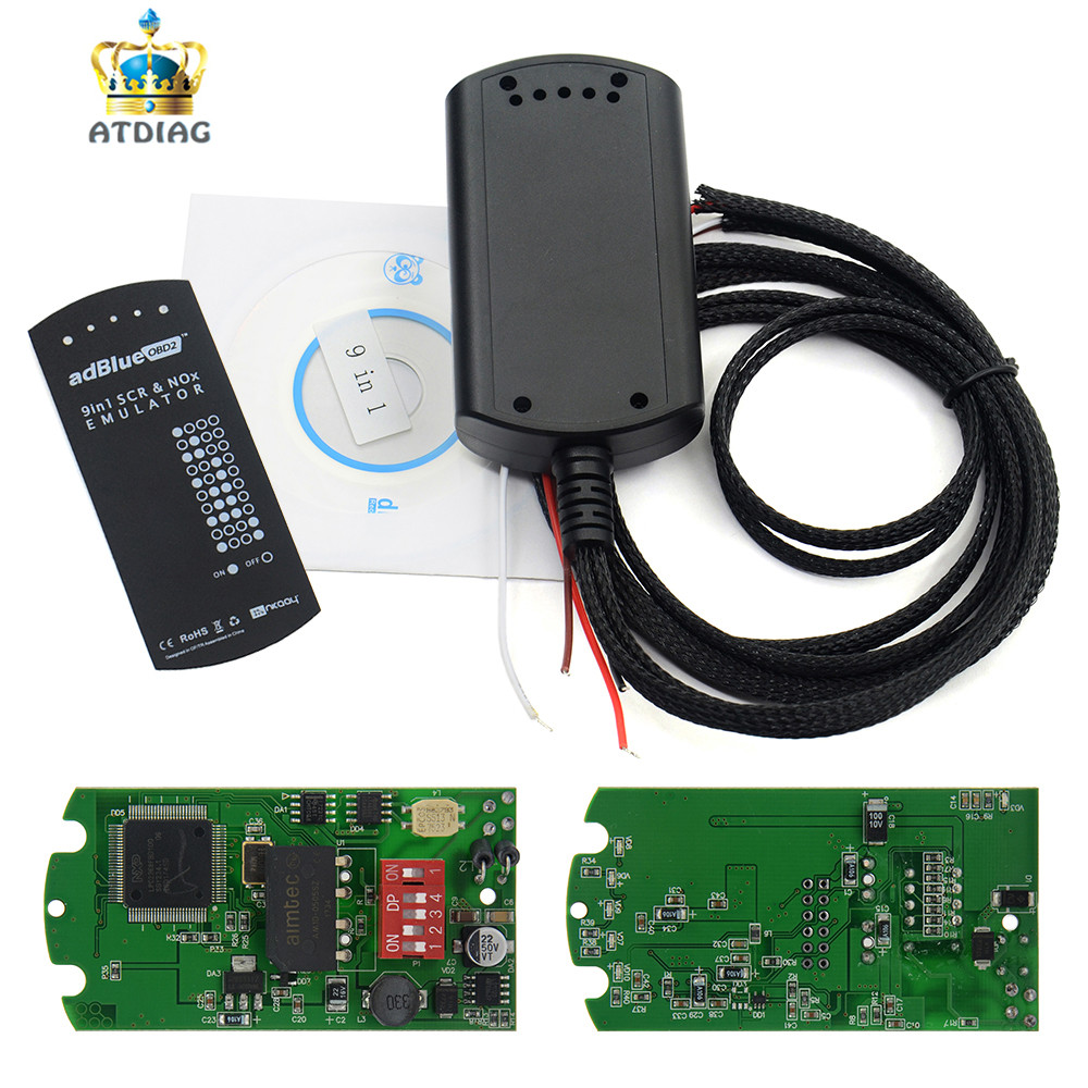 Emulator-System Adblue Full-Chip 9in1 NO for Truks 8-In-1 Car-Kit Box SCR title=
