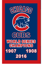 2016 Chicago Cubs World Series Champions flag-3x5 Banners MLB-Free shipping