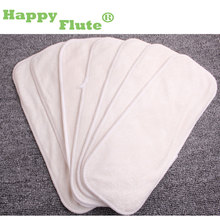 Happy Flute 5/10 pcs 4 layers bamboo Liner Insert For Baby Cloth Diaper Nappy Natural Bamboo Washable
