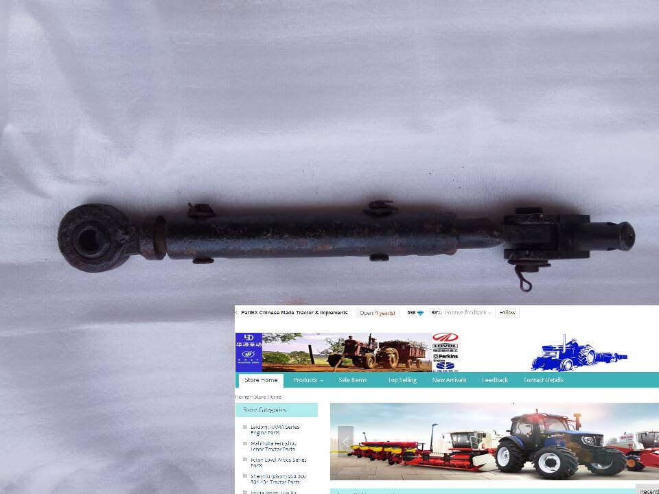 Shandong Taishan tractor parts, KM454 KM554, the set of pull rod assembly, part number: <br>