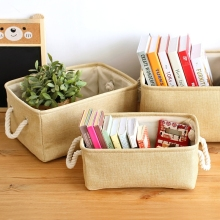 Laundry Storage Basket Cotton Waterproof Folding Eco-friendly Sundries Clothes Toy Home Storage Organization Box With Cover(China)