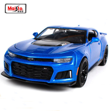 NEW ARRIVAL Maisto 1:24 2017 Camaro ZL1 Sports Car Alloy Diecast Model Car Toy For Kids Gifts Toys New In Box Free Shipping